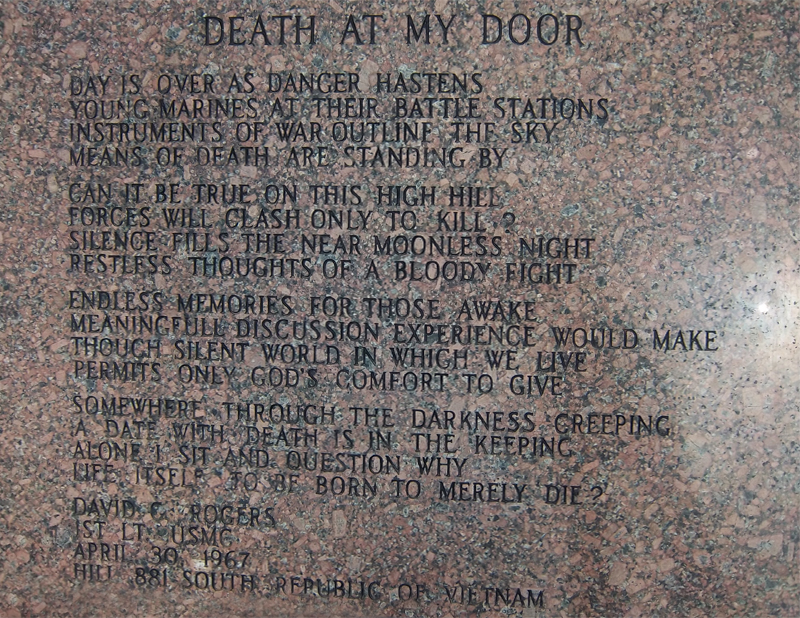 death at my door & History | Vietnam Veterans Memorial of San Antonoio
